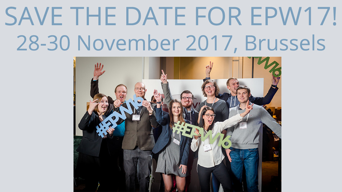 European Paper Week will be back 28-30 November 2017 in Brussels. Save the date!