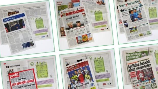 Grosse Anzeigenkampagne Two Sides Austria