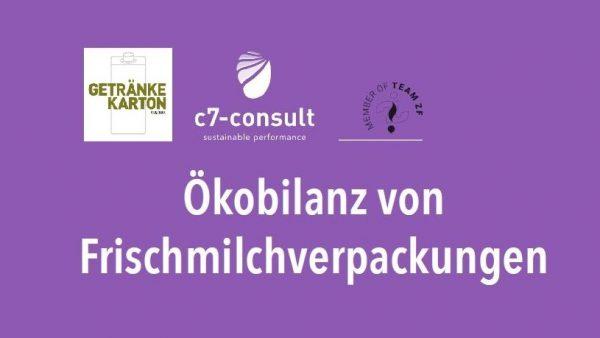 c7-Studie 2019: Milch im Karton-Verbund verpacken