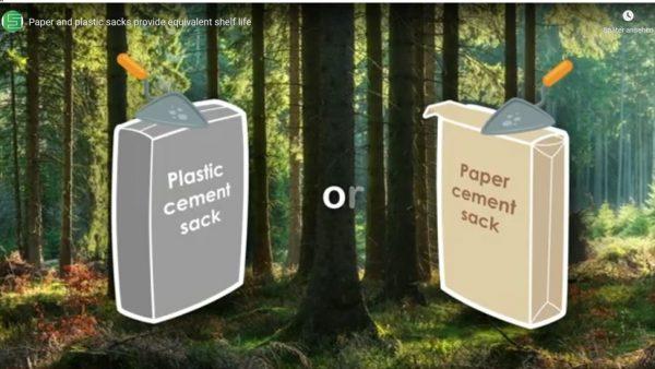 Papier verpackt Zement gut