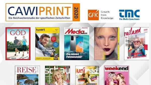 CAWI-Print 2020: Kuvert hält Rekord-Reichweiten